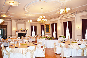 Room 105 in Hayfield House, decorated for a wedding