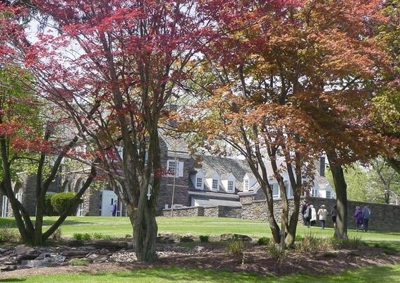 Hayfield House in fall foliage