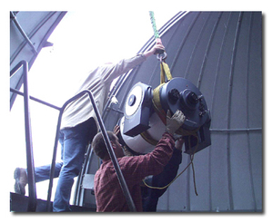 installing the new telescope