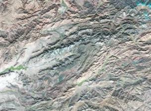Satellite image over Afghanistan