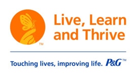 logo for Proctor and Gamble's 'Live, Learn, and Thrive' grant program