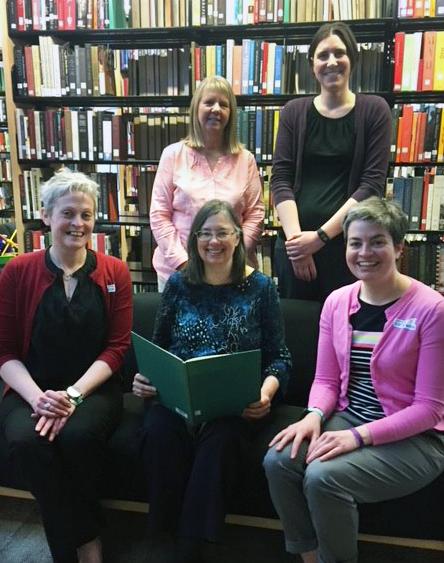five volunteer readers from Penn State Wilkes-Barre