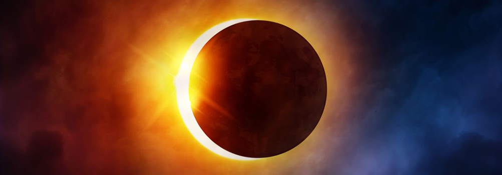 solar eclipse just before totality