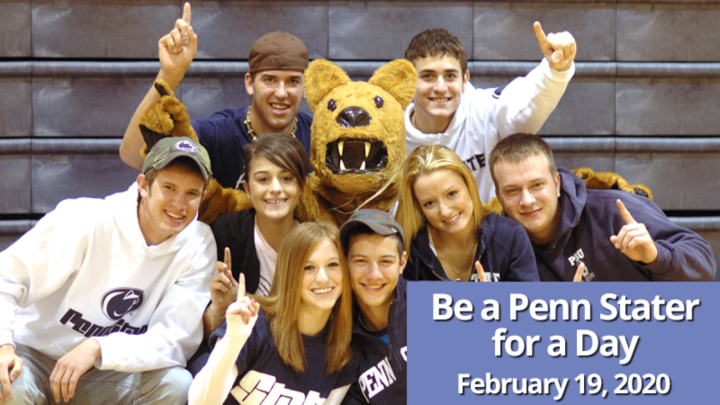 Be a Penn Stater for a Day on February 19, 2020