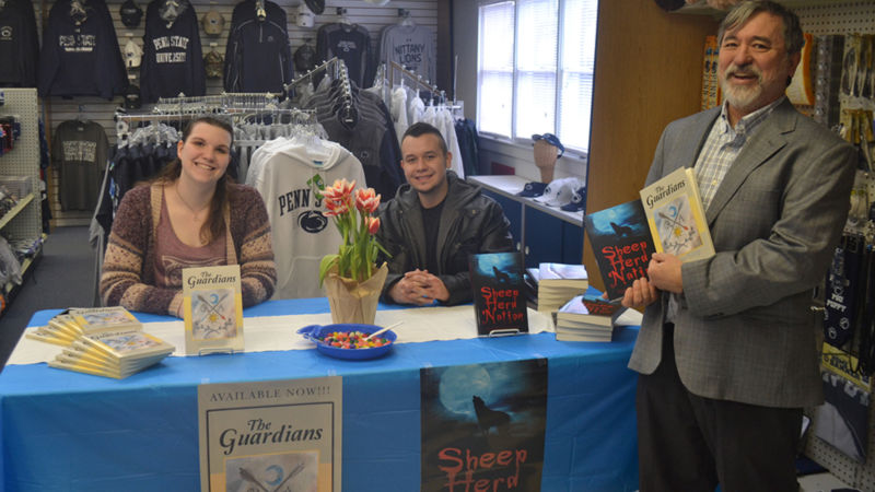 Student authors Ashlee Harry and Ryan Sotelo with Dr. David Chin