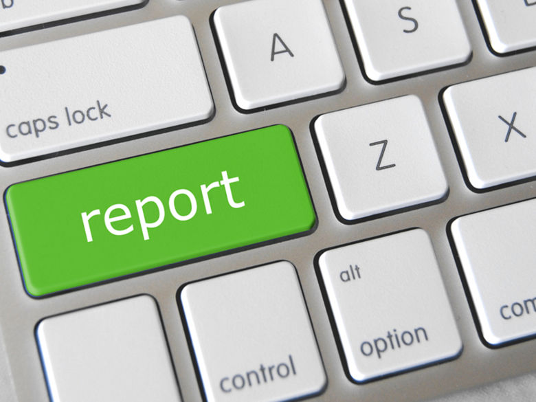 """Keyboard with """"Report"""" key"""