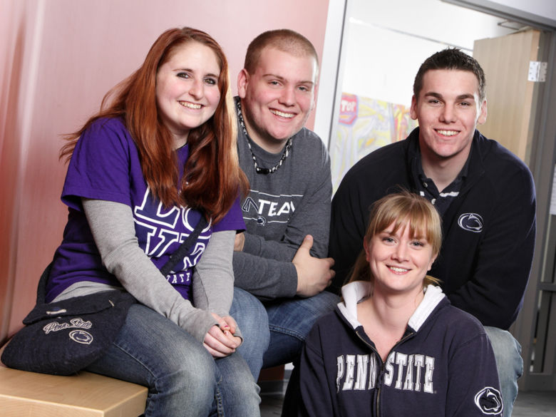 Smiling group of Penn State Wilkes-Barre students