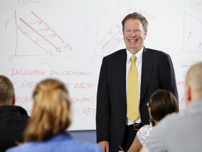 Professor Giving Presentation