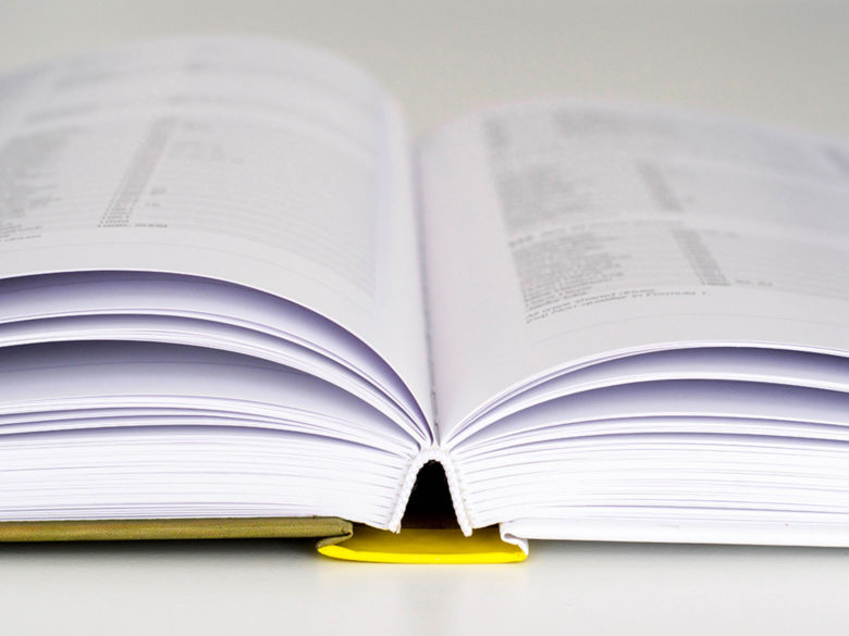 A policy manual lying open