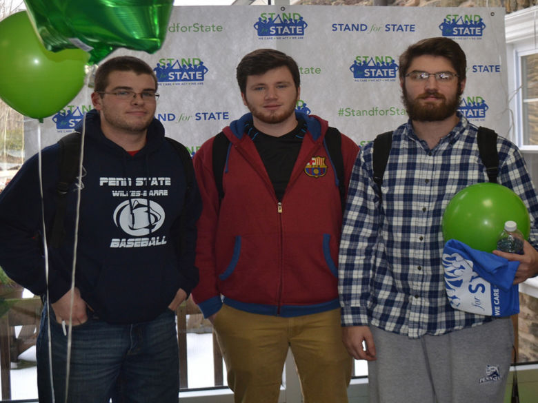 Students at a Stand for State Event