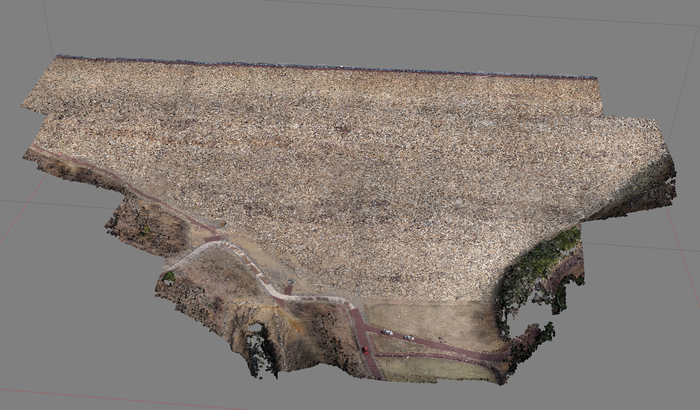 Drone point cloud data of dam