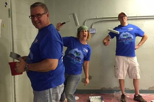 Penn State Wilkes-Barre Team Painting Fun