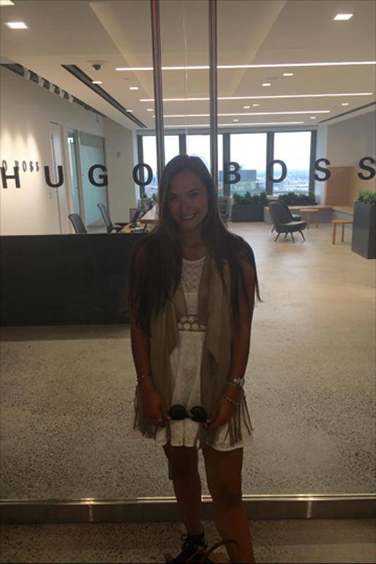 Alexa McCann at the Hugo Boss NYC offices