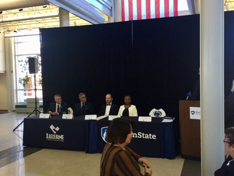 LCCC President and Penn State Chancellors Gather For Signing