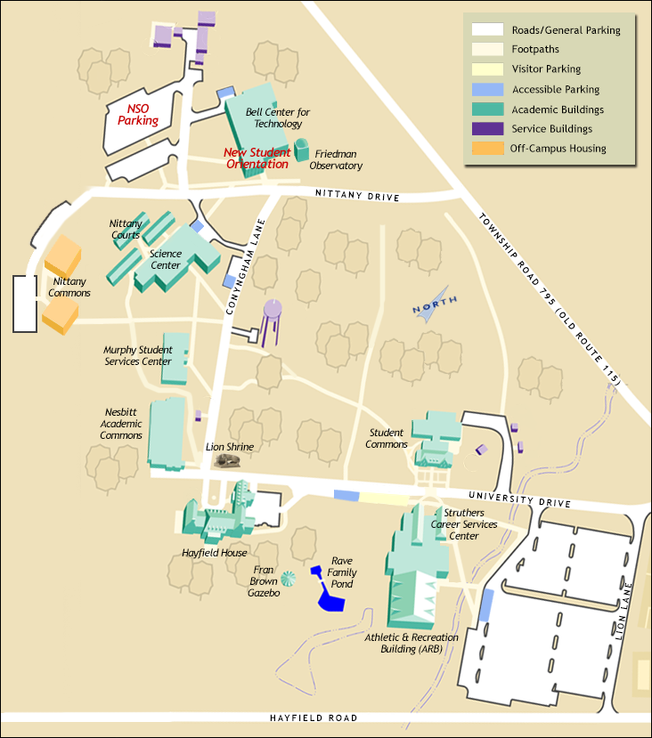 NSO Campus Map - component | Penn State Wilkes‑Barre