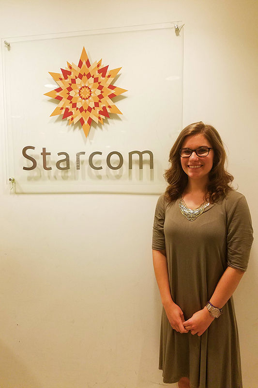 Stephanie Bartz at the Starcom Mediavest offices in New York