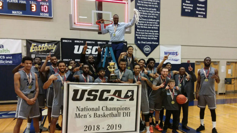 winning team celebrating their victory as national champions