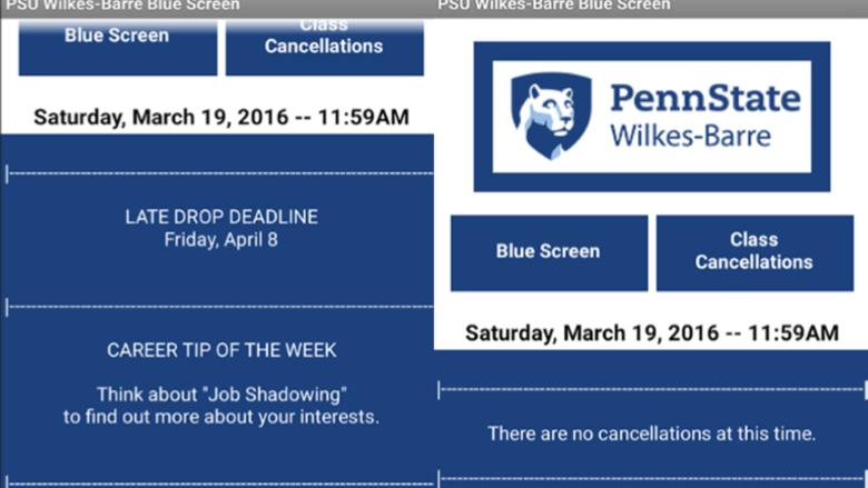 Blue Screen App Screenshot
