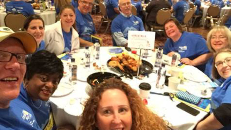 Penn State Wilkes-Barre Team at United Way Day of Caring Breakfast