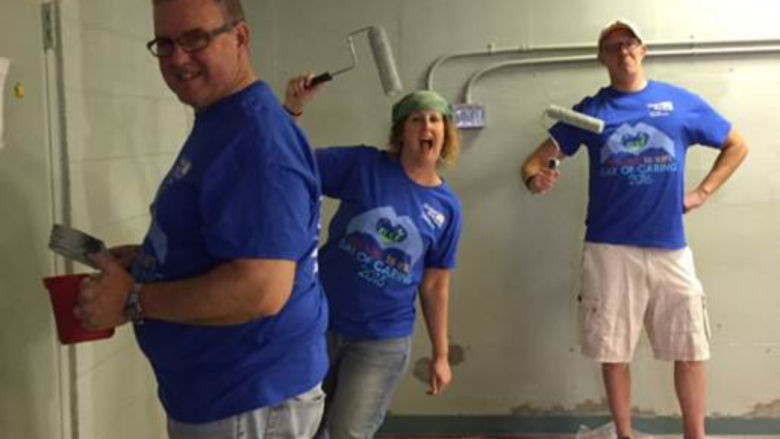Penn State Wilkes-Barre Team Painting Fun