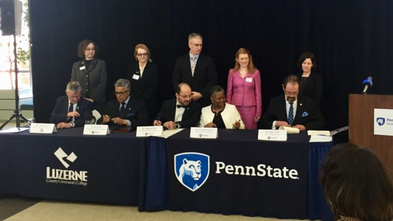 Penn State, LCCC Articulation Agreement Signing