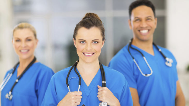 Group of Three Registered Nurses