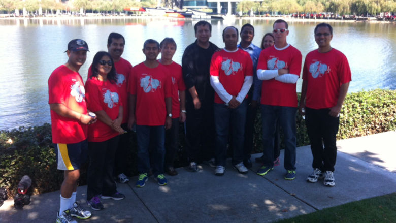 Team Oracle at the 2014 Heartwalk