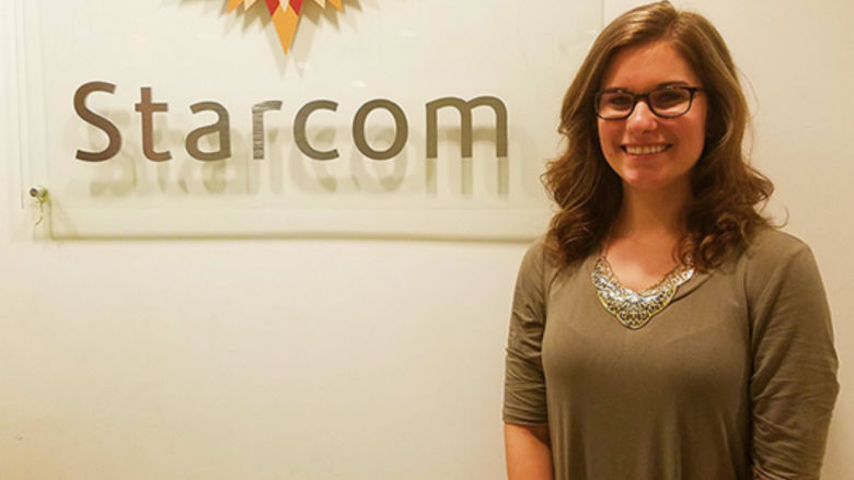 Stephanie Bartz at the Starcom Mediavest offices in New York