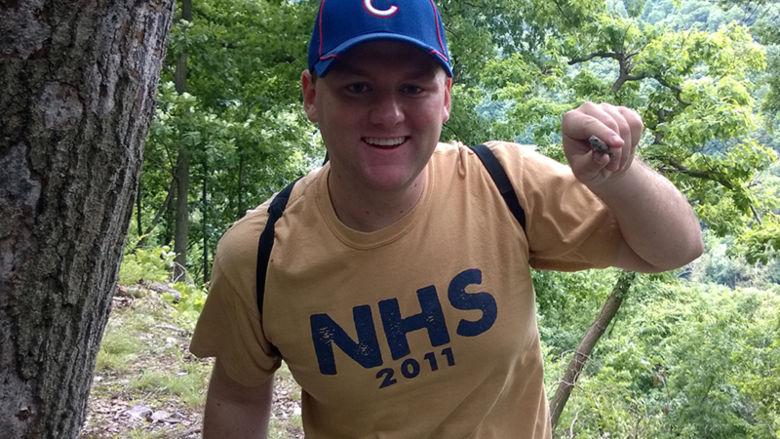 Matt Korea, aspiring dentist, capturing fence lizards