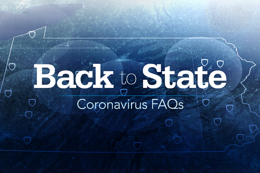 Back to State Coronavirus FAQs graphic